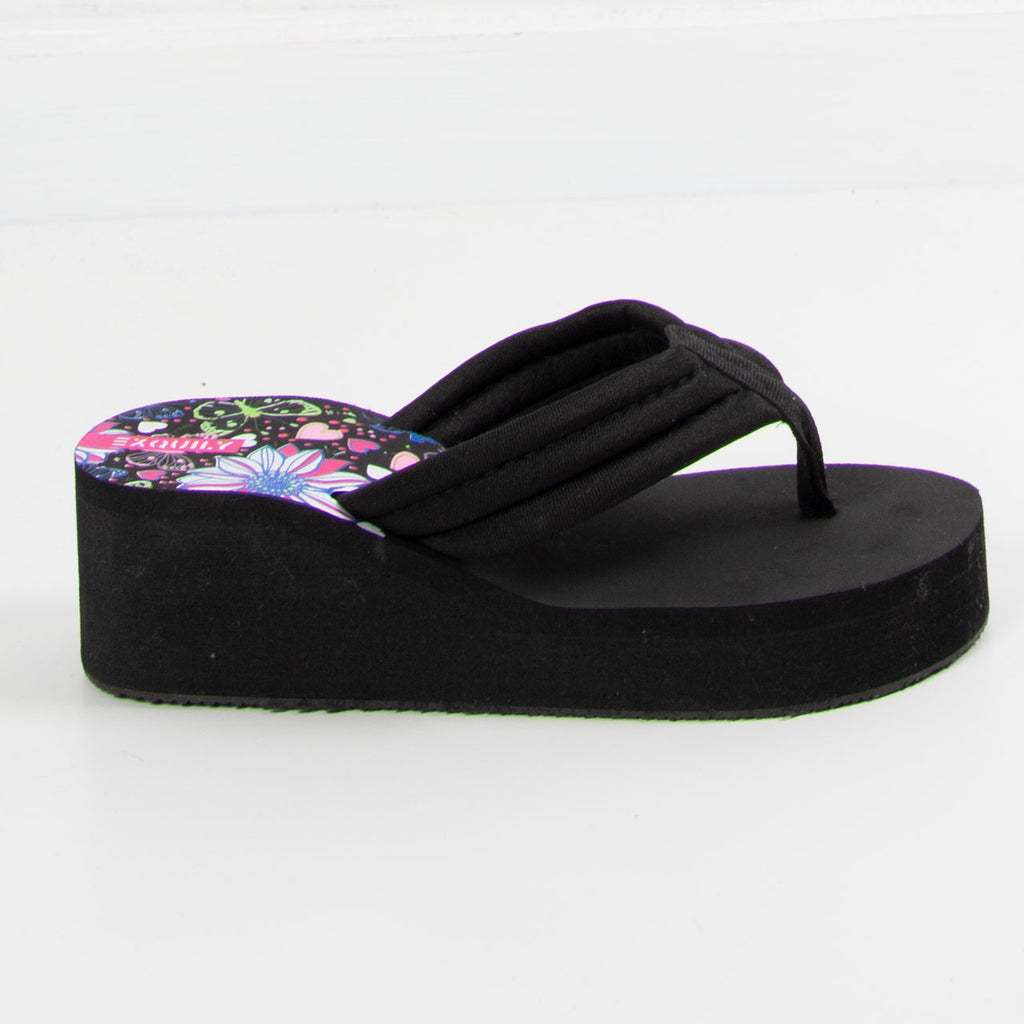 Wedge Flip Flop | Black