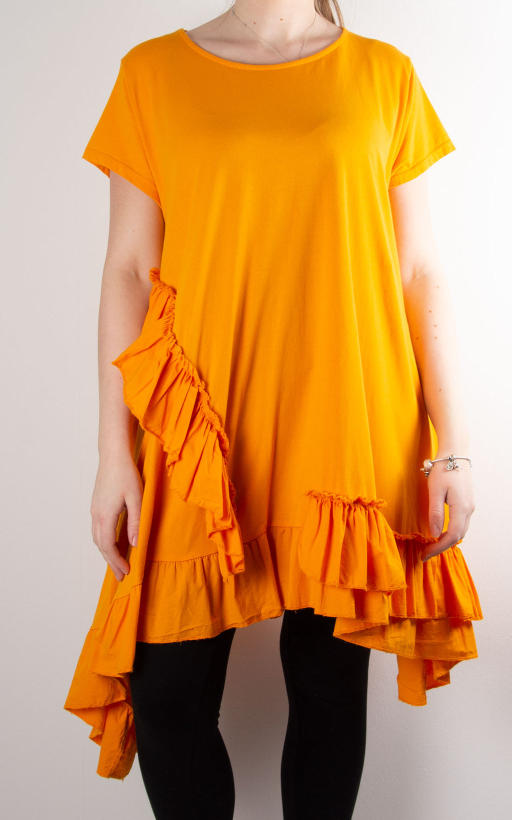 Lottie Frill Tunic | Orange