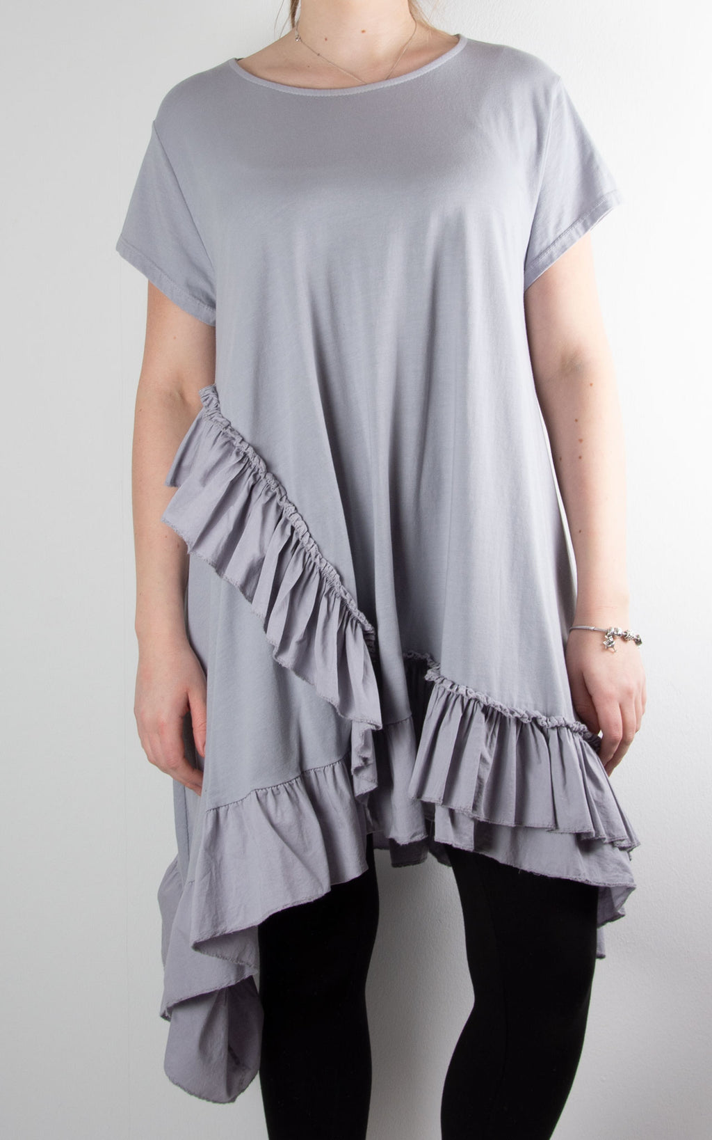 Lottie Frill Tunic | Grey