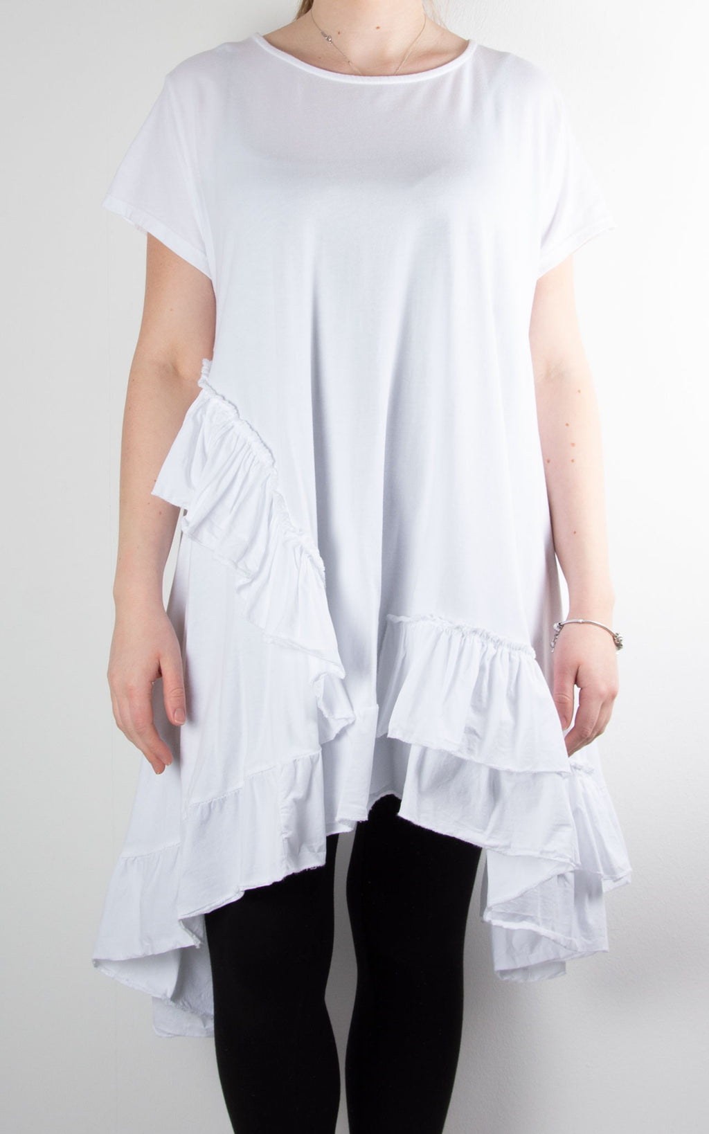 Lottie Frill Tunic | White