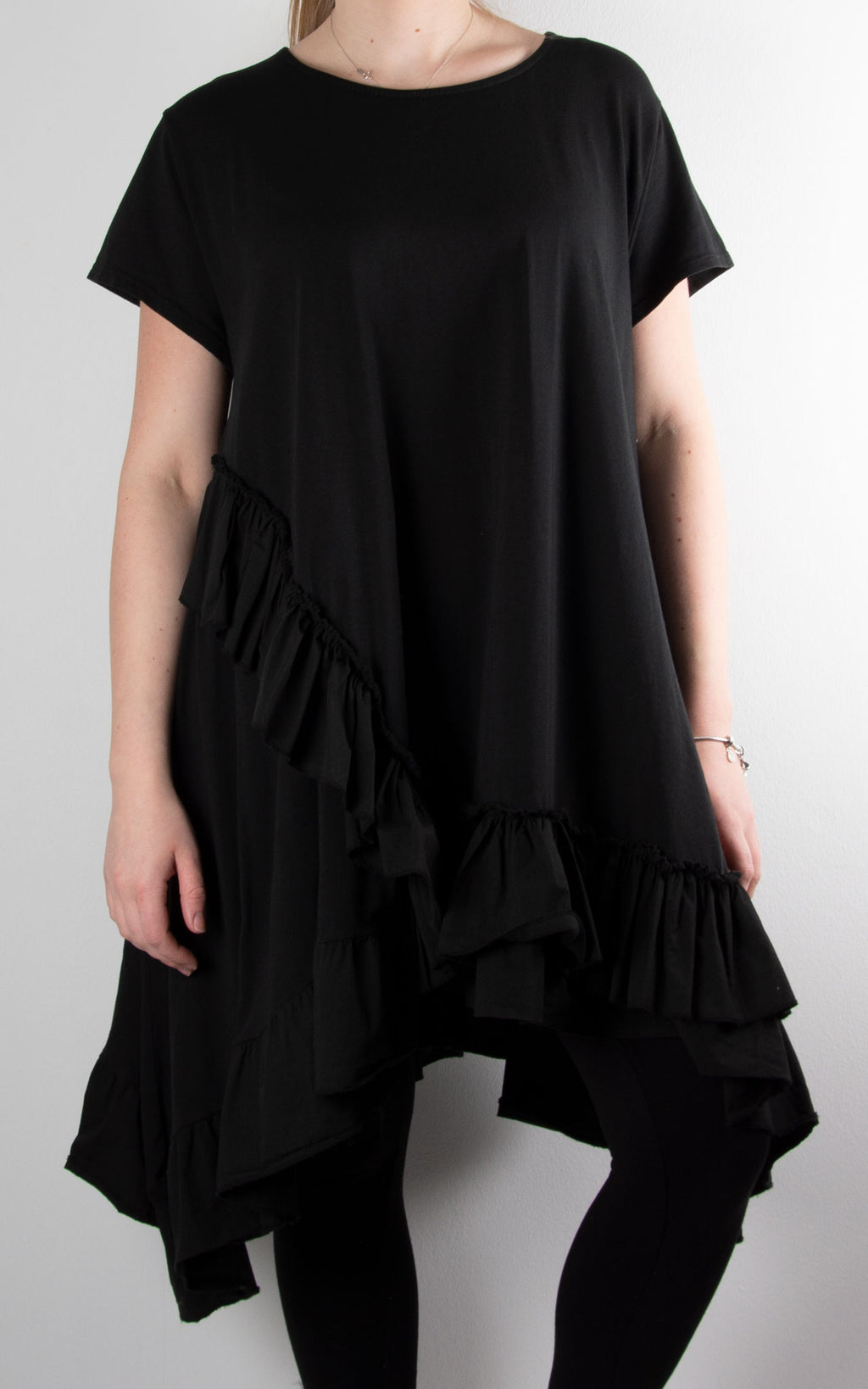 Lottie Frill Tunic | Black