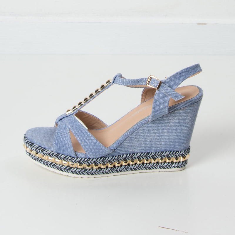 Denim Wedge | Light