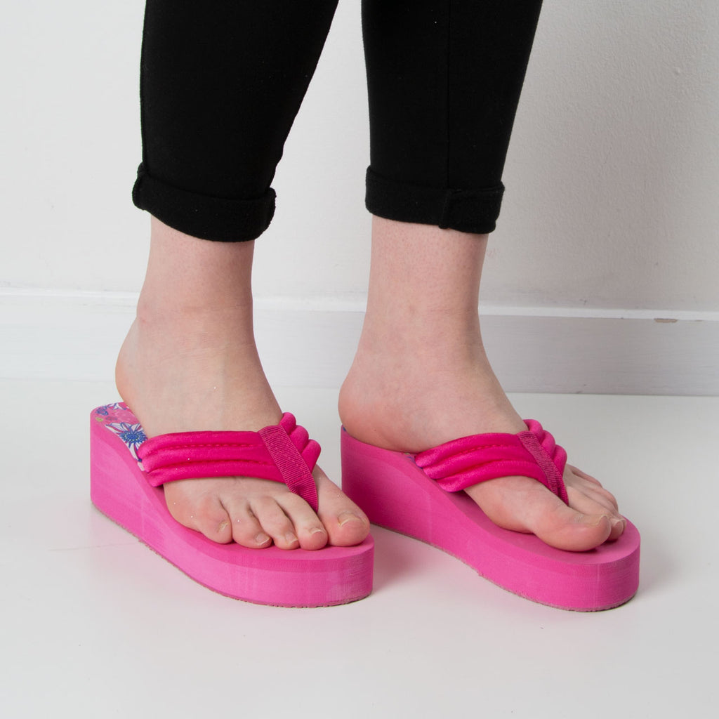 Wedge Flip Flop | Hot Pink