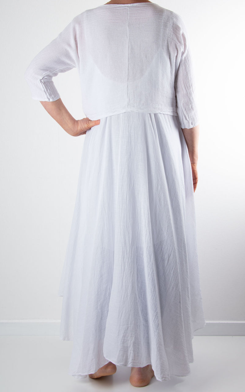 Floss Layered Dress | White