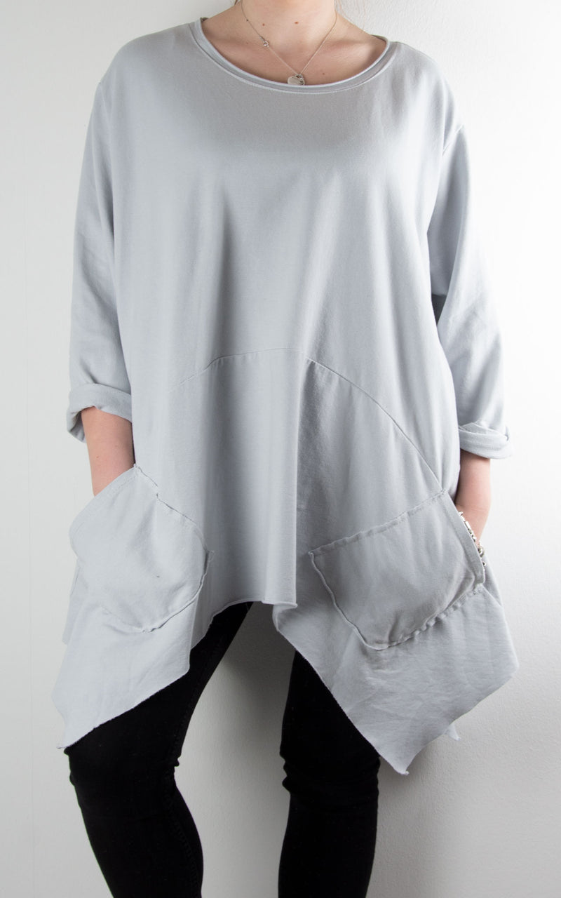 Nettie Pocket Sweat | Light Grey