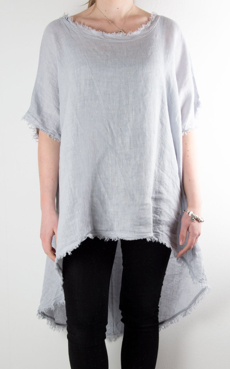 Razzle Linen Hi Lo | Light Grey