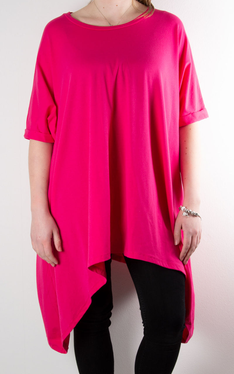 Mabel Drop Hem | Hot Pink