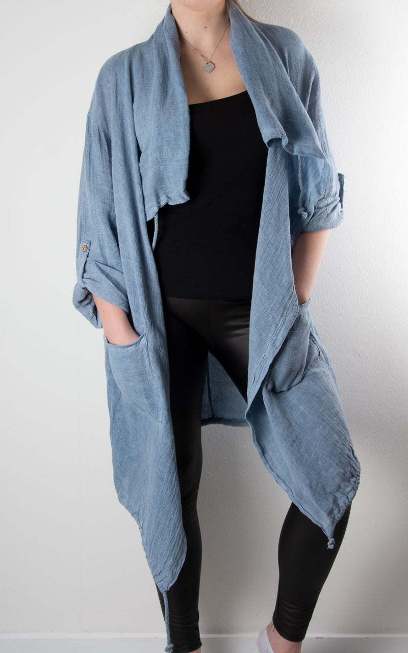 Milano | Waterfall Jacket | Denim