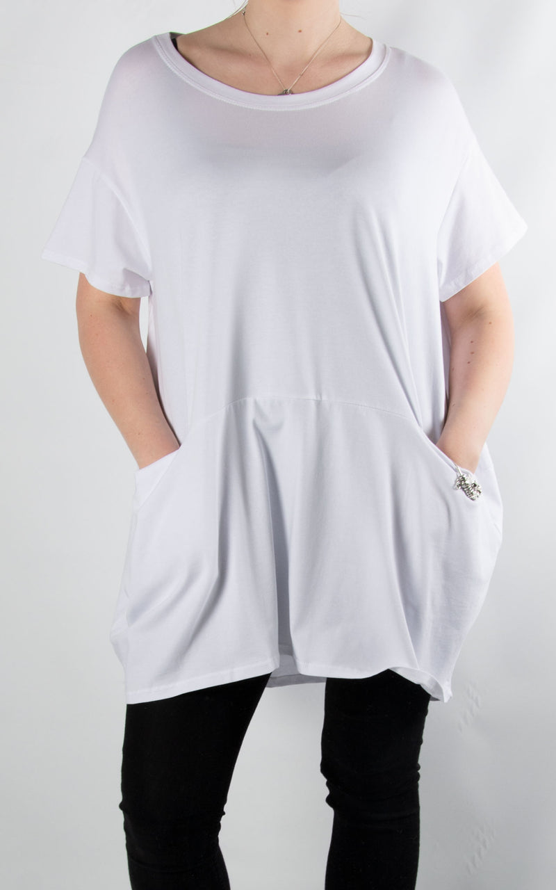 Pinny Balloon T | White