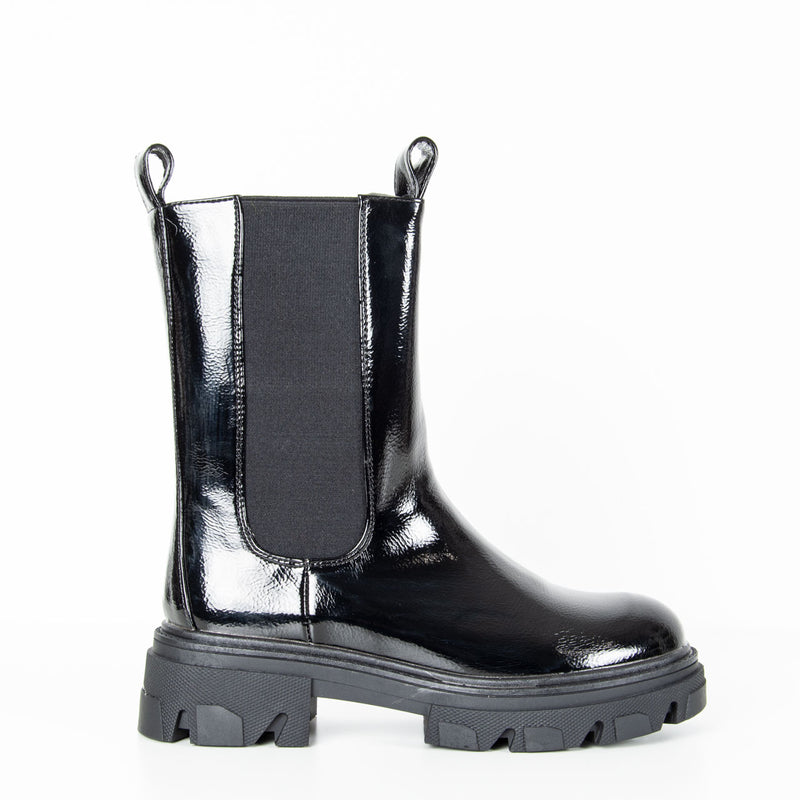 Dani Patent Boot | Black