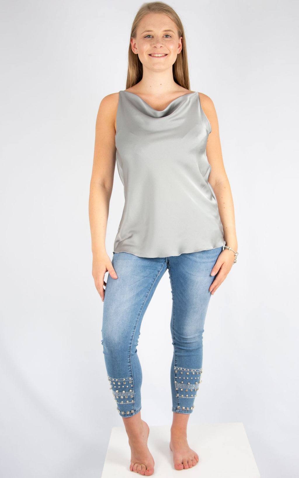 Silver Drape Vest | Made In Italy