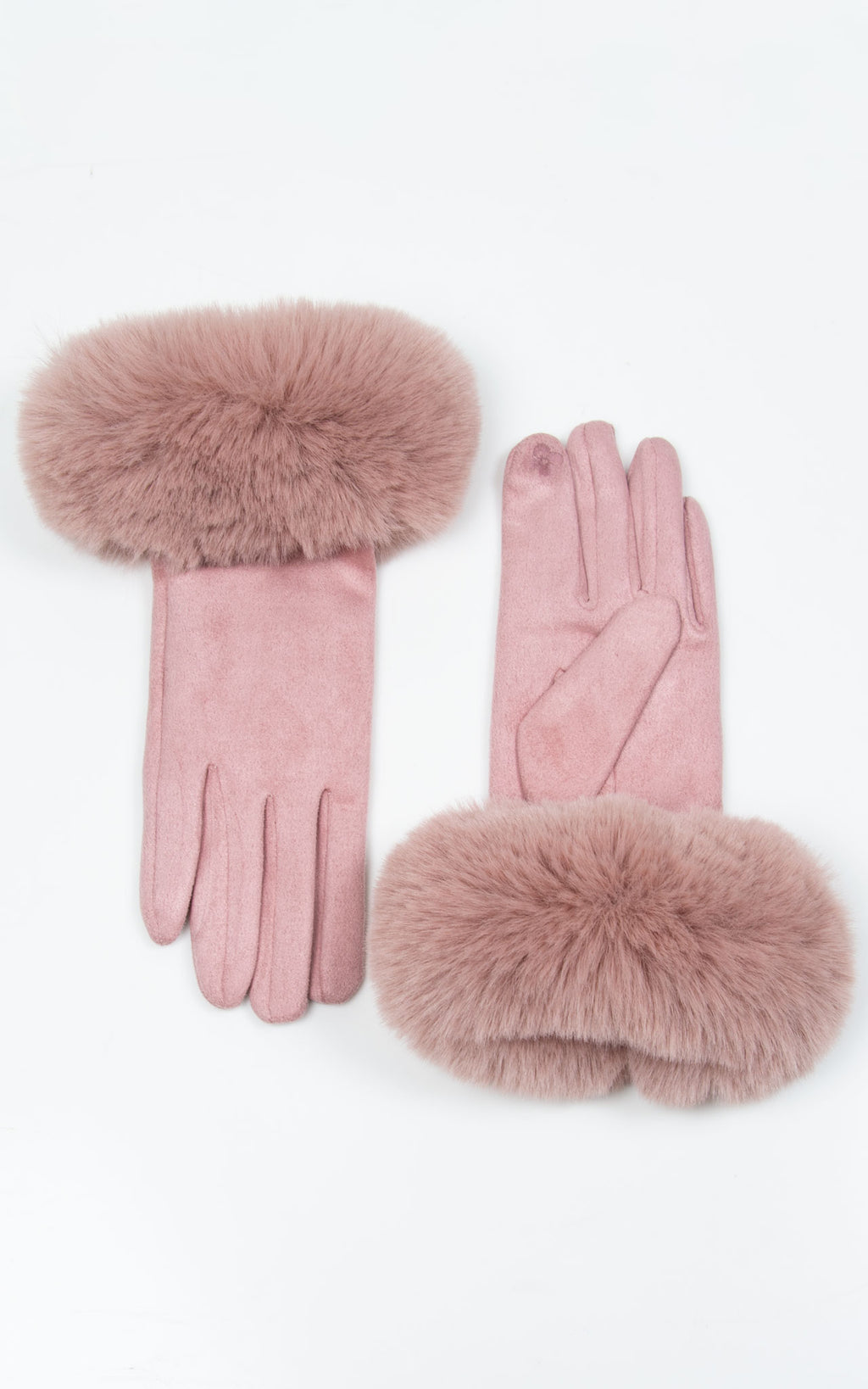 Faux Fur Gloves | Pink