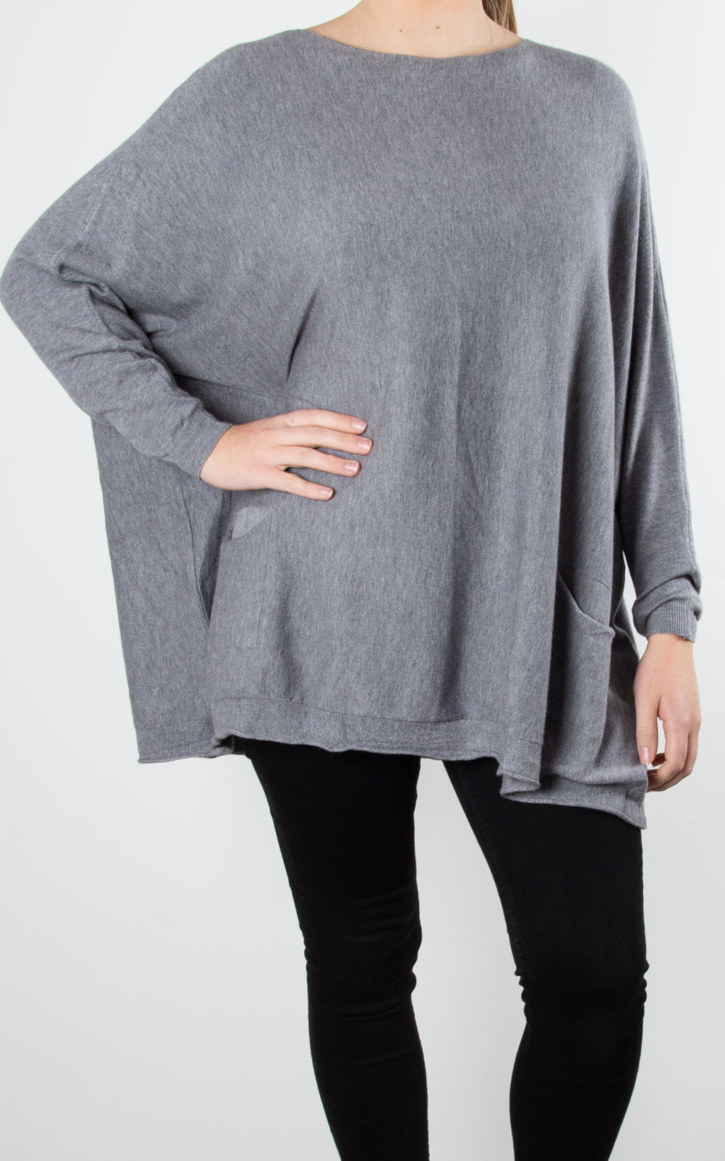 Emily Pocket Knit | Grey