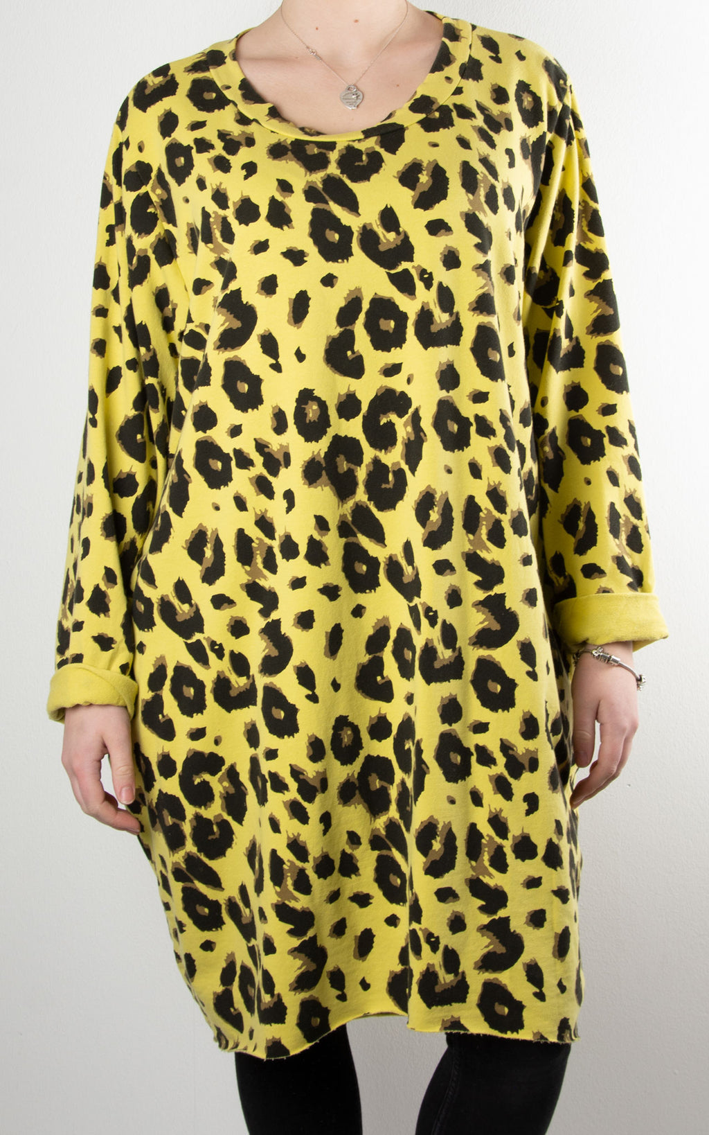 Evie Leopard Tunic | Yellow