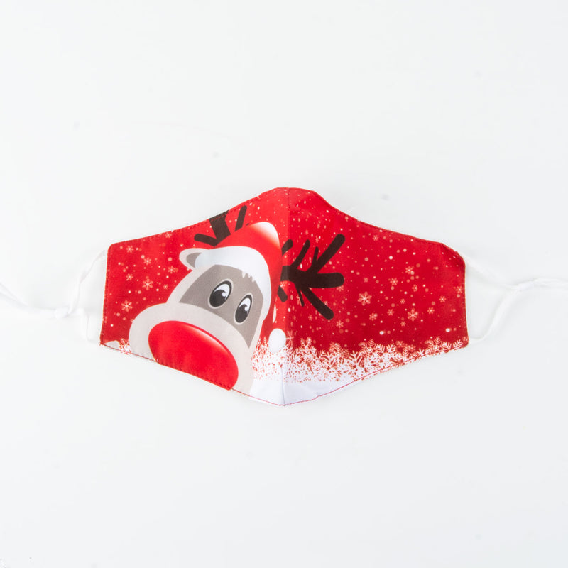 Face Covering | Christmas | Rudolph | Red