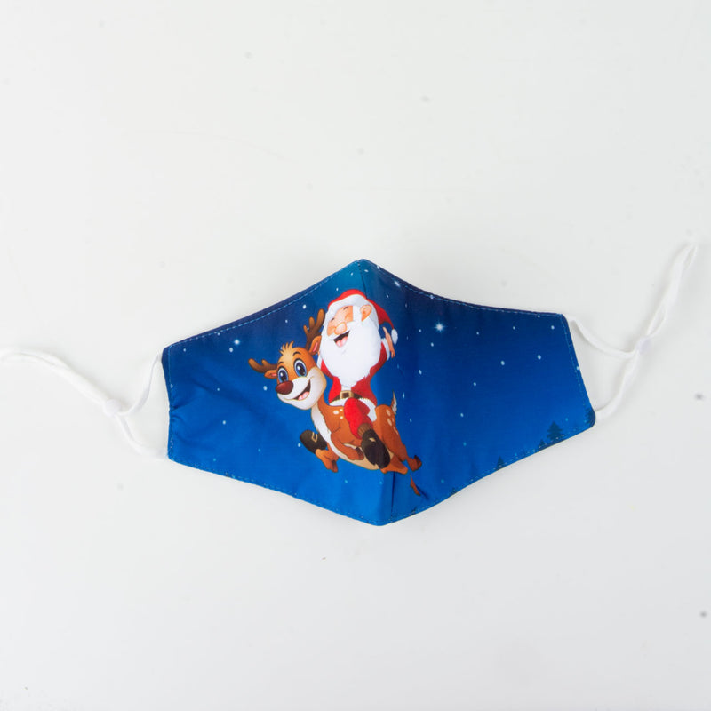 Face Covering | Christmas | Santa | Blue