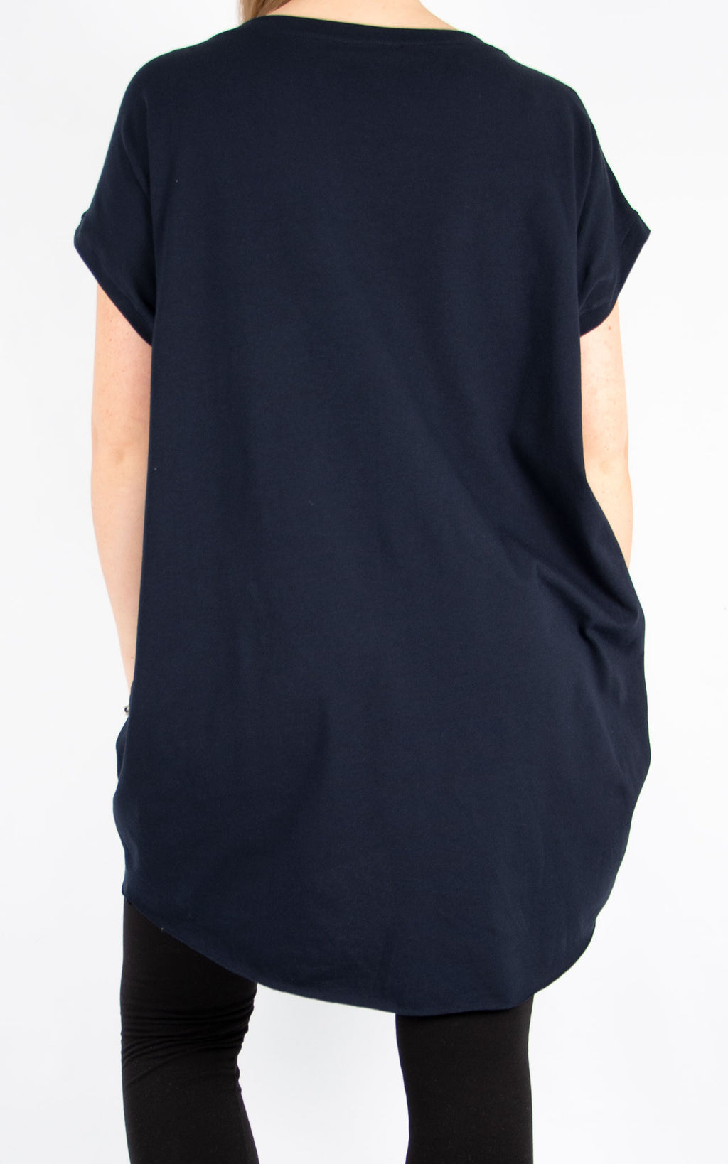 Navy Faith T Shirt | Made In Italy
