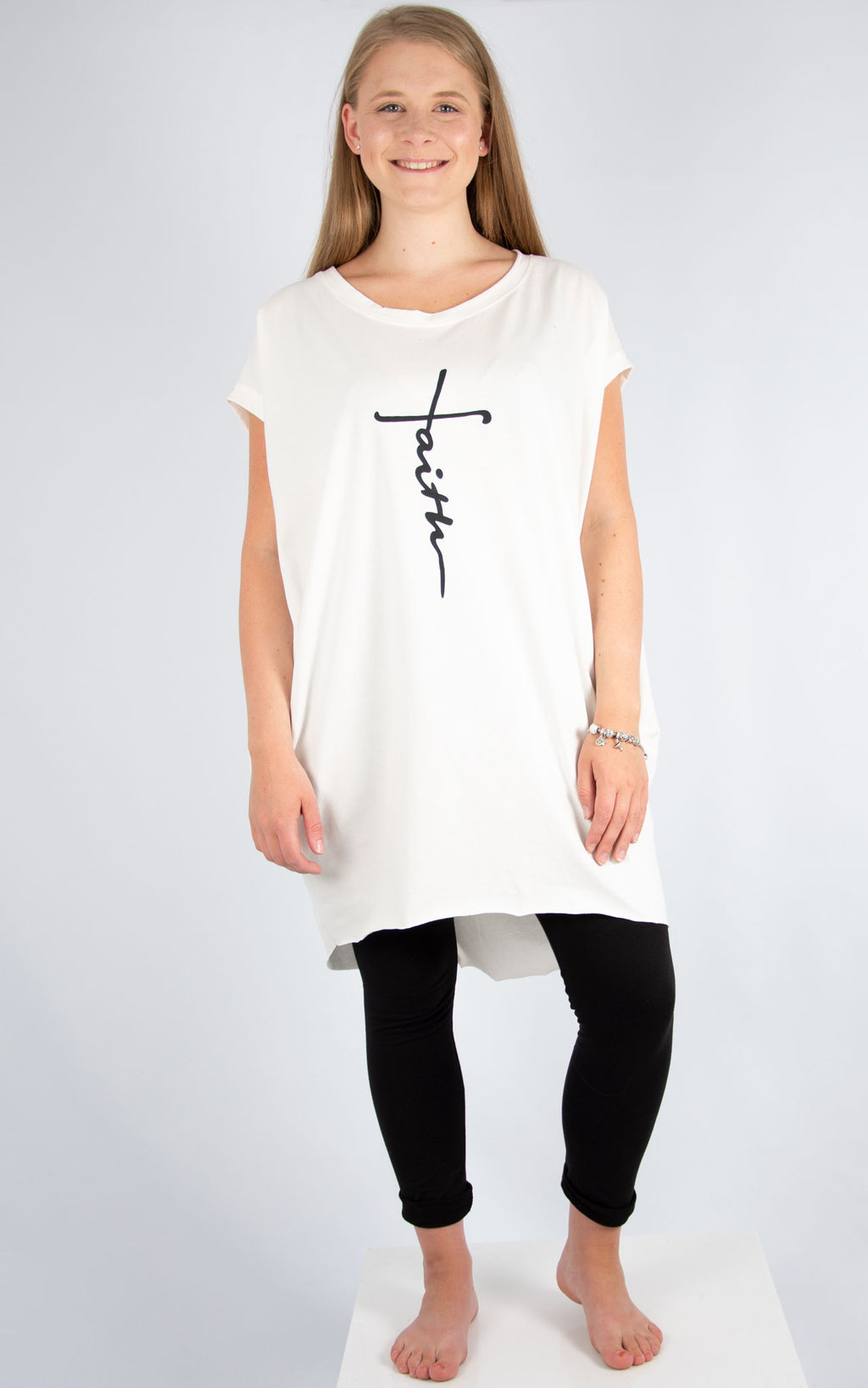 Rachel T | Cream Faith T Shirt