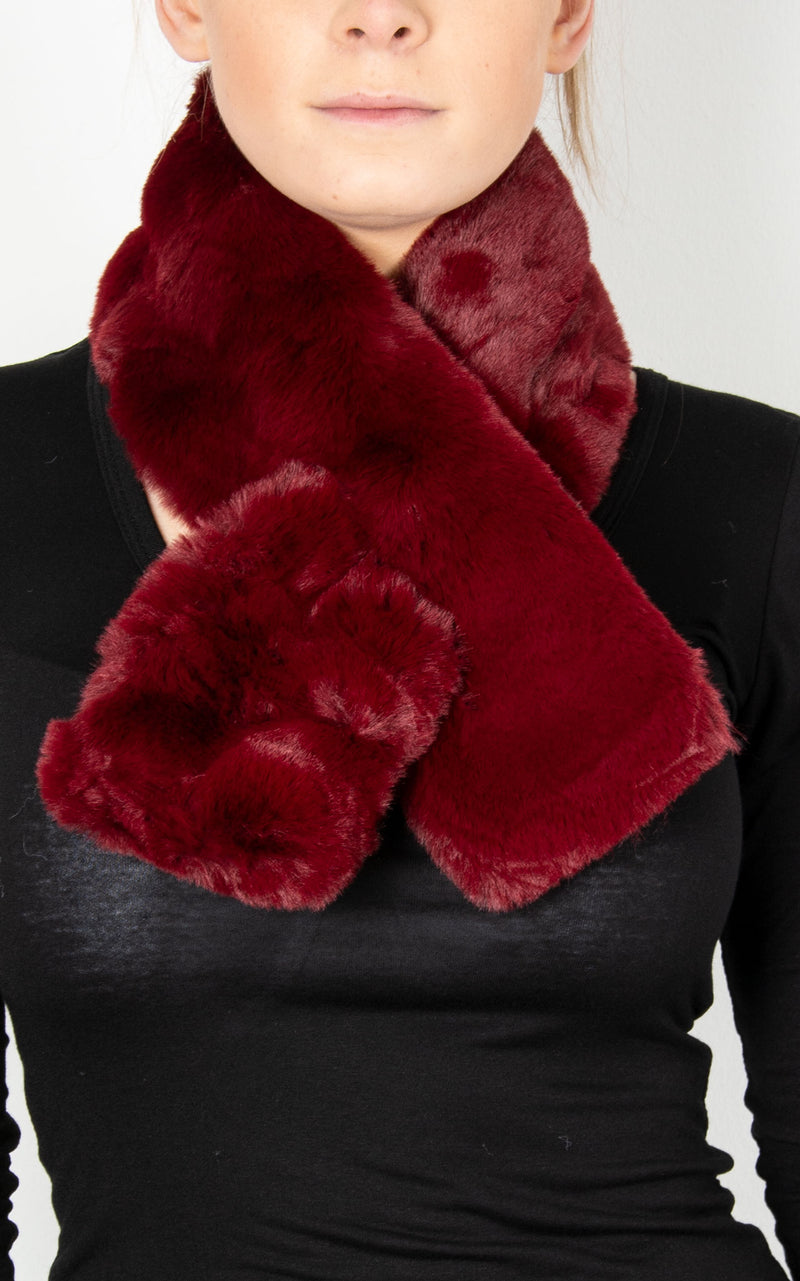 Faux Fur Scarf | Wine