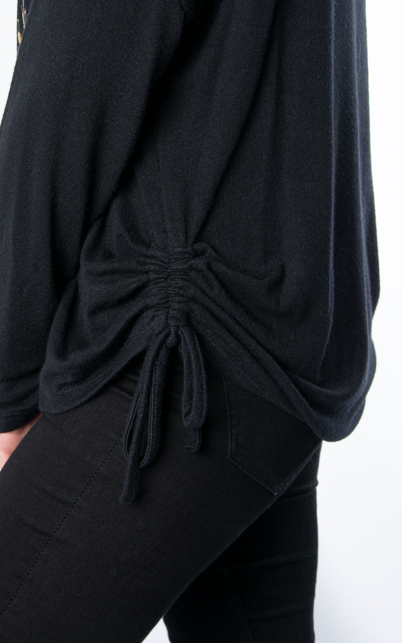 Fine Knit Tie Side | Shredded Star | Black