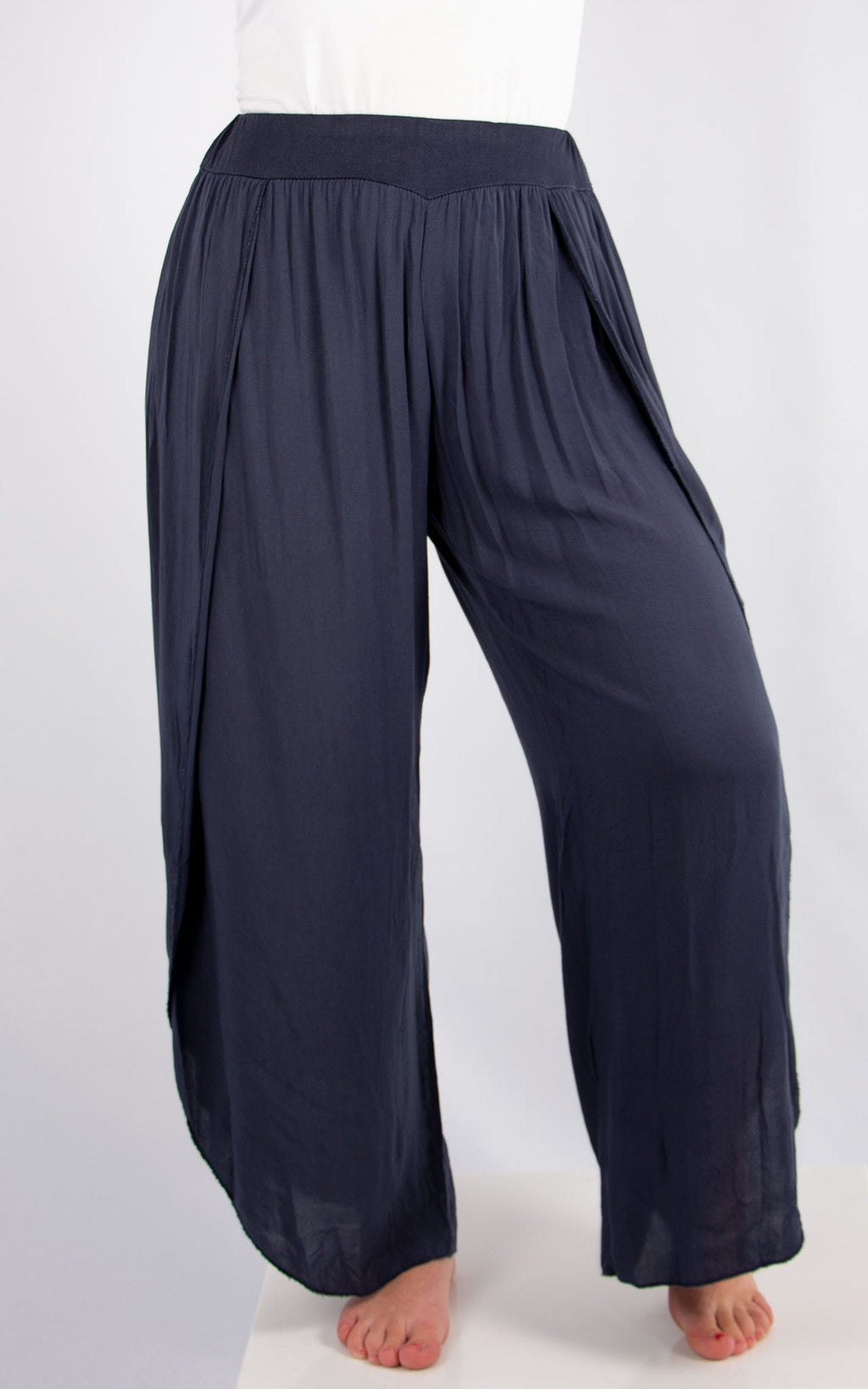 Navy Floaty Pants | Made in Italy