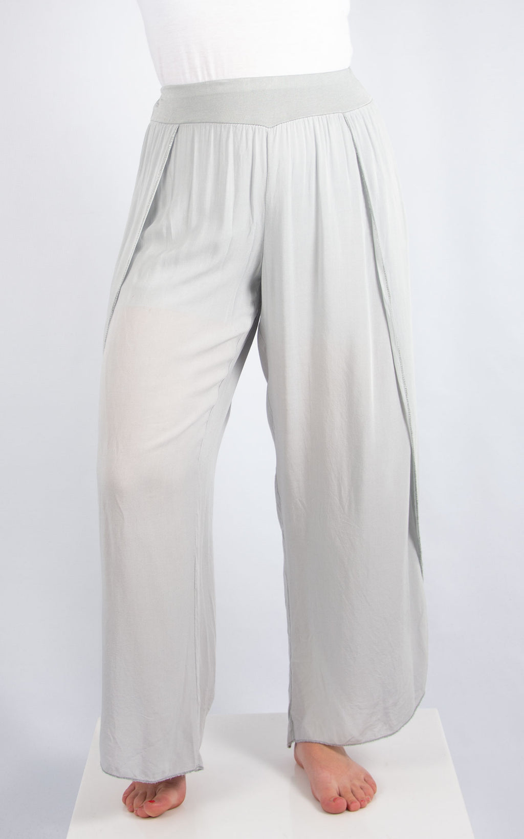 Light Grey Floaty Pants | Made in Italy