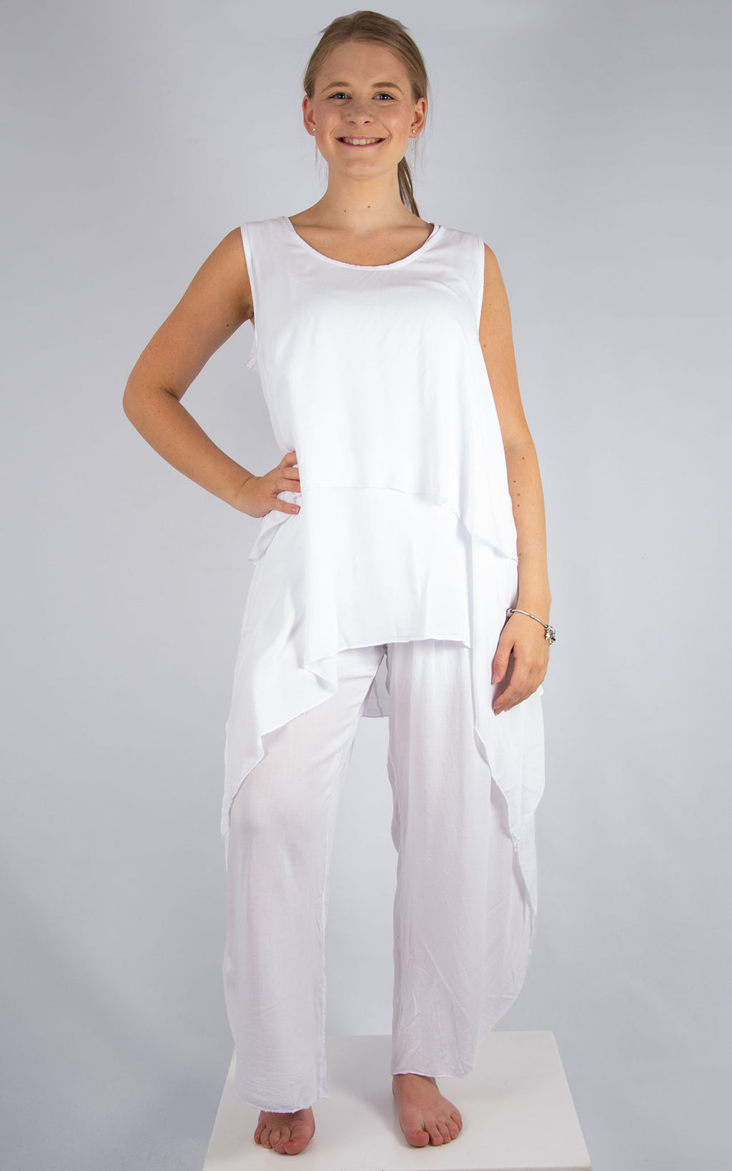 White Floaty Top | Made in Italy