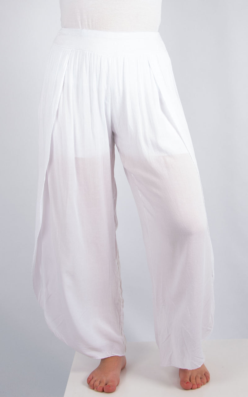 White Floaty Pants | Made in Italy