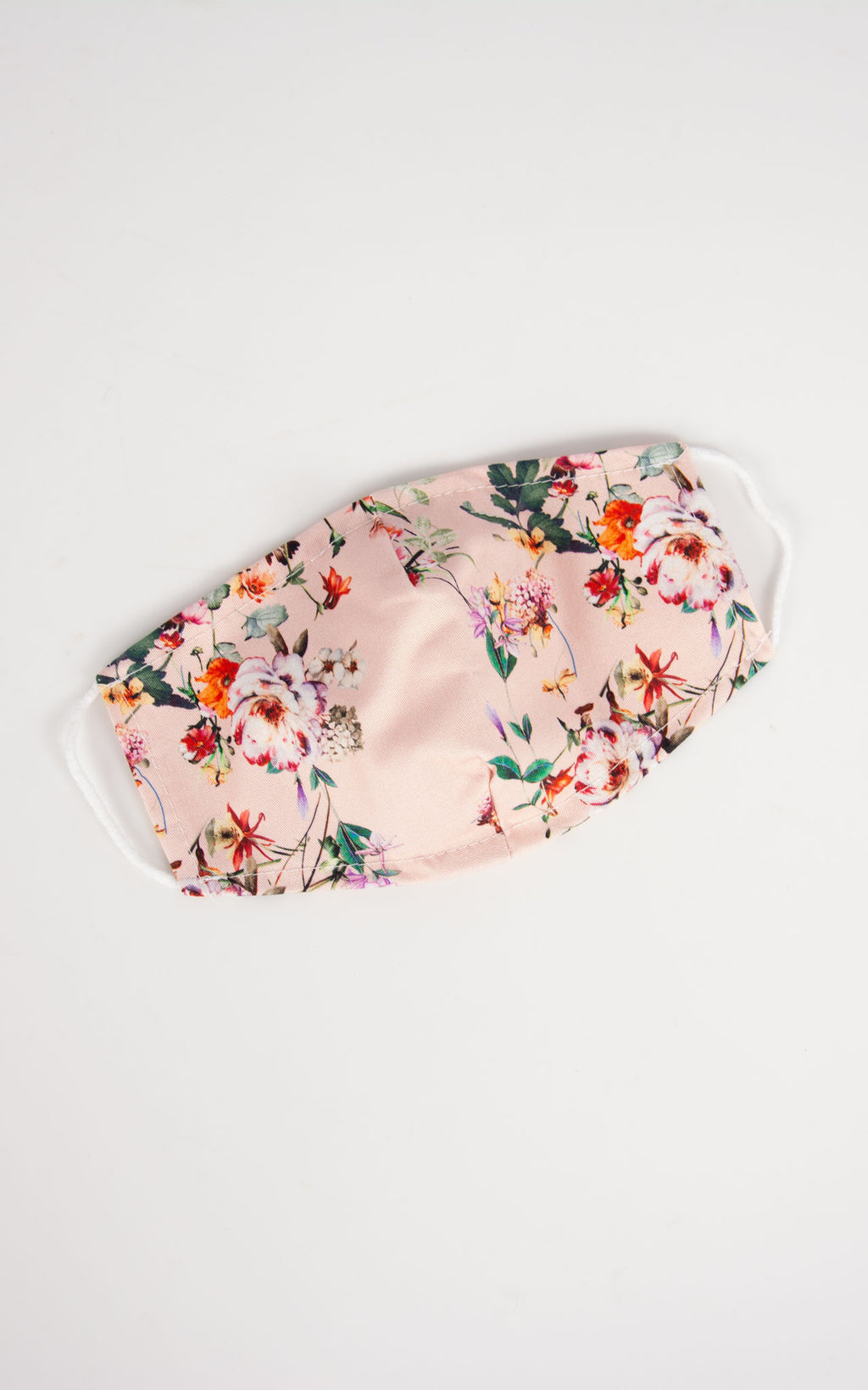 Pink Floral Face Covering
