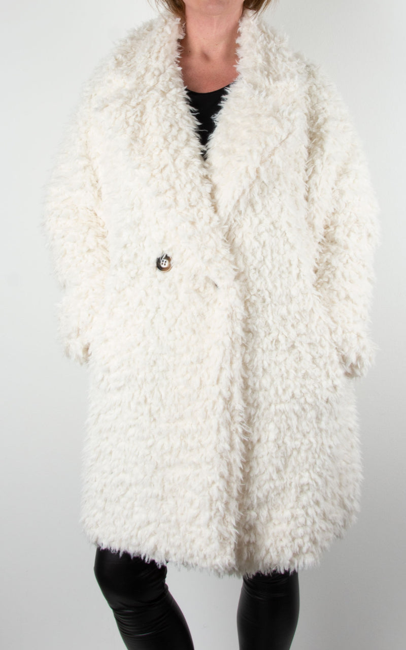 Fluffy Teddy Coat | Cream