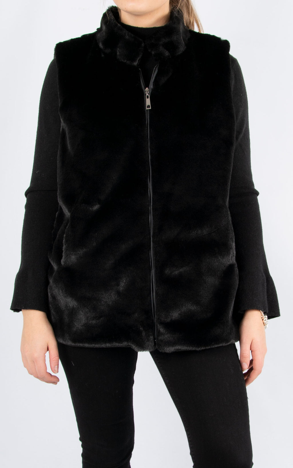 Fur Gillet | Black