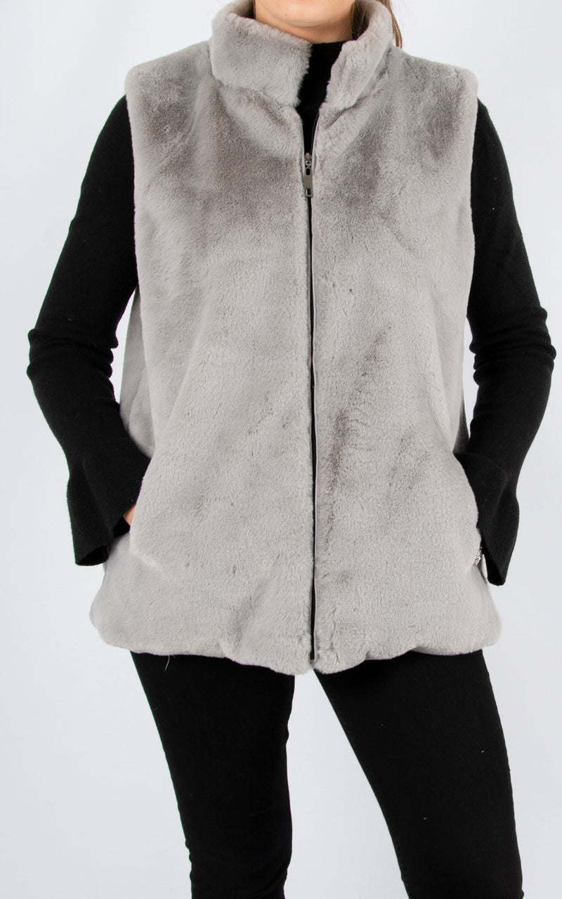 Fur Gillet | Light Grey
