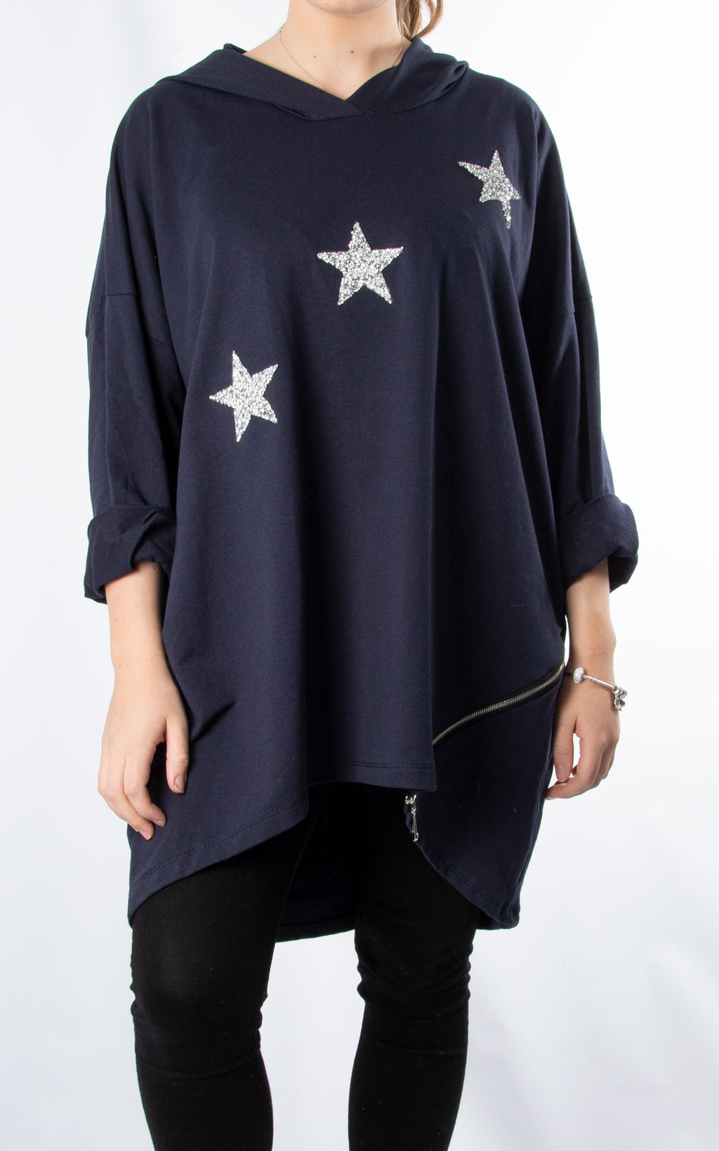 Glitter Star Sweat | Navy
