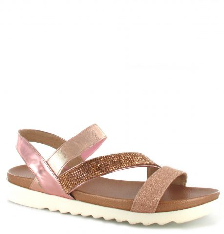Gloria Sandal | Rose Gold