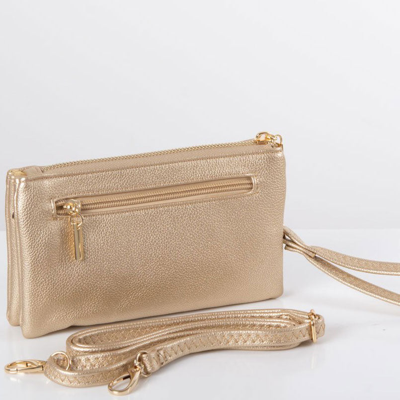 Clutch Bag | Toni | Gold