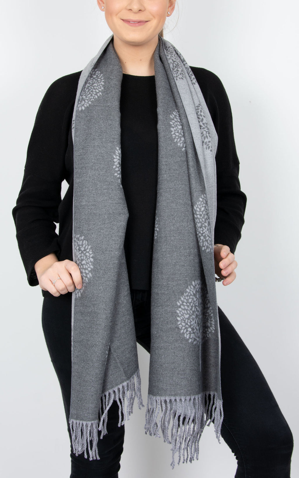 Grey Blanket Scarf - Mulberry Tree