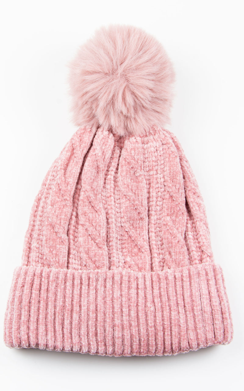 Hat Chenille | Pink