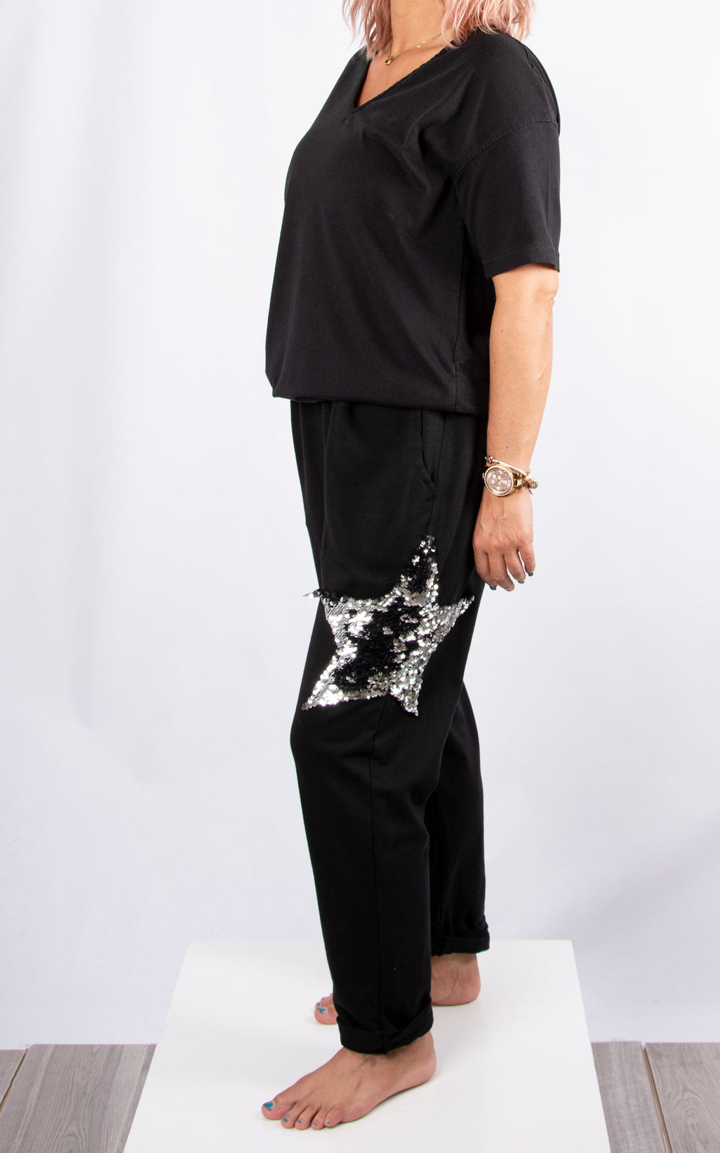 Hayley Star Jogger : Black