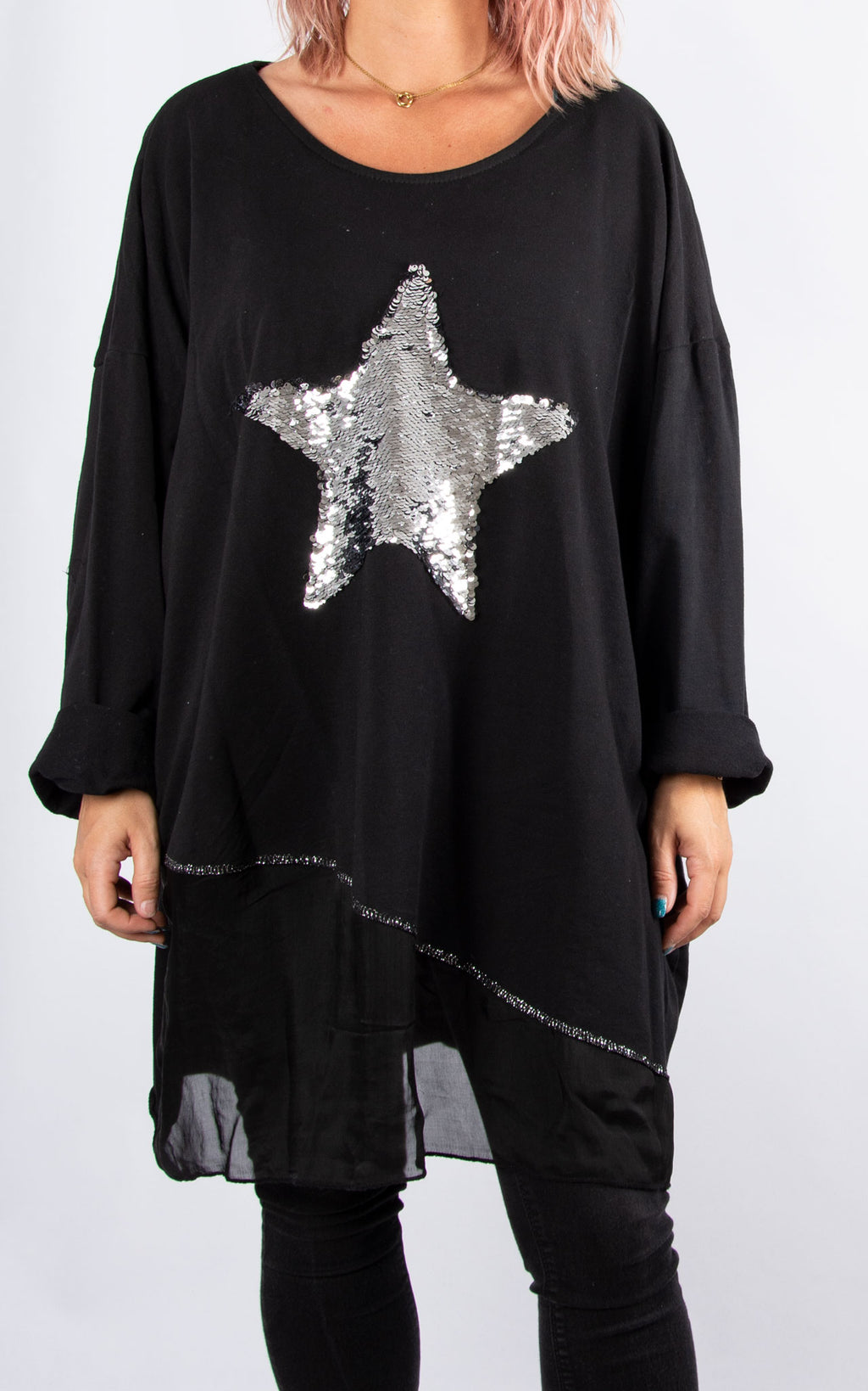 Hayley Star Jumper : Black