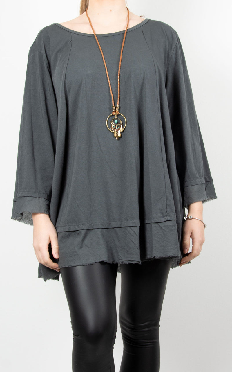 Hazel | Necklace Top | Charcoal