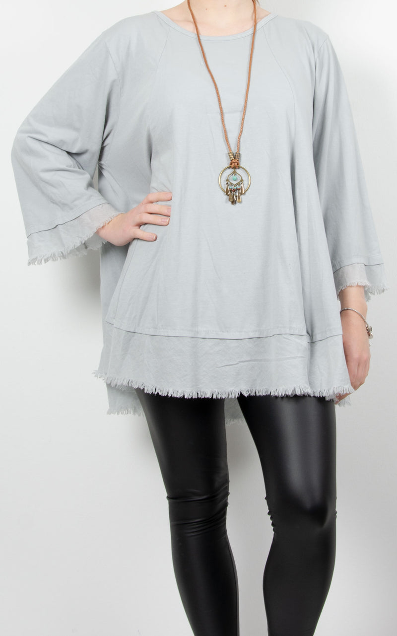 Hazel | Necklace Top | Light Grey
