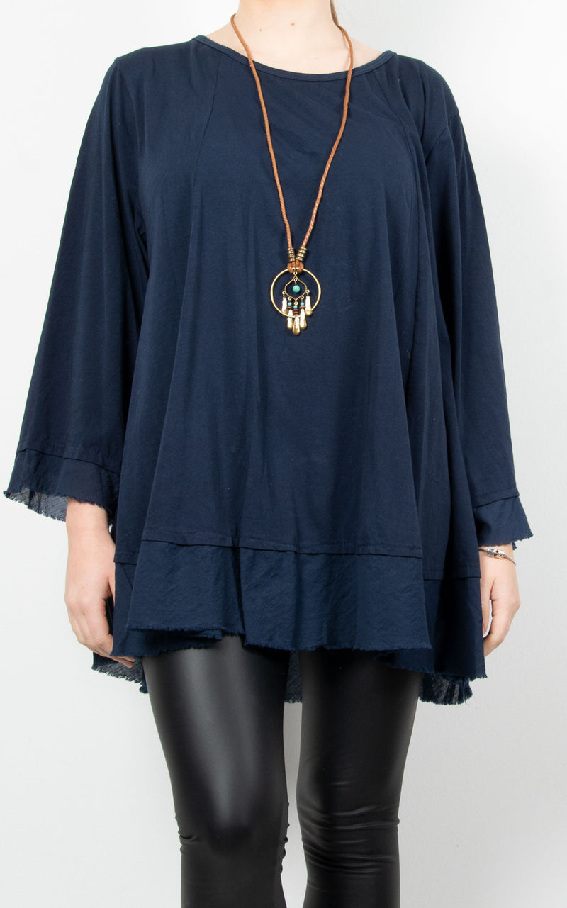 Hazel | Necklace Top | Navy