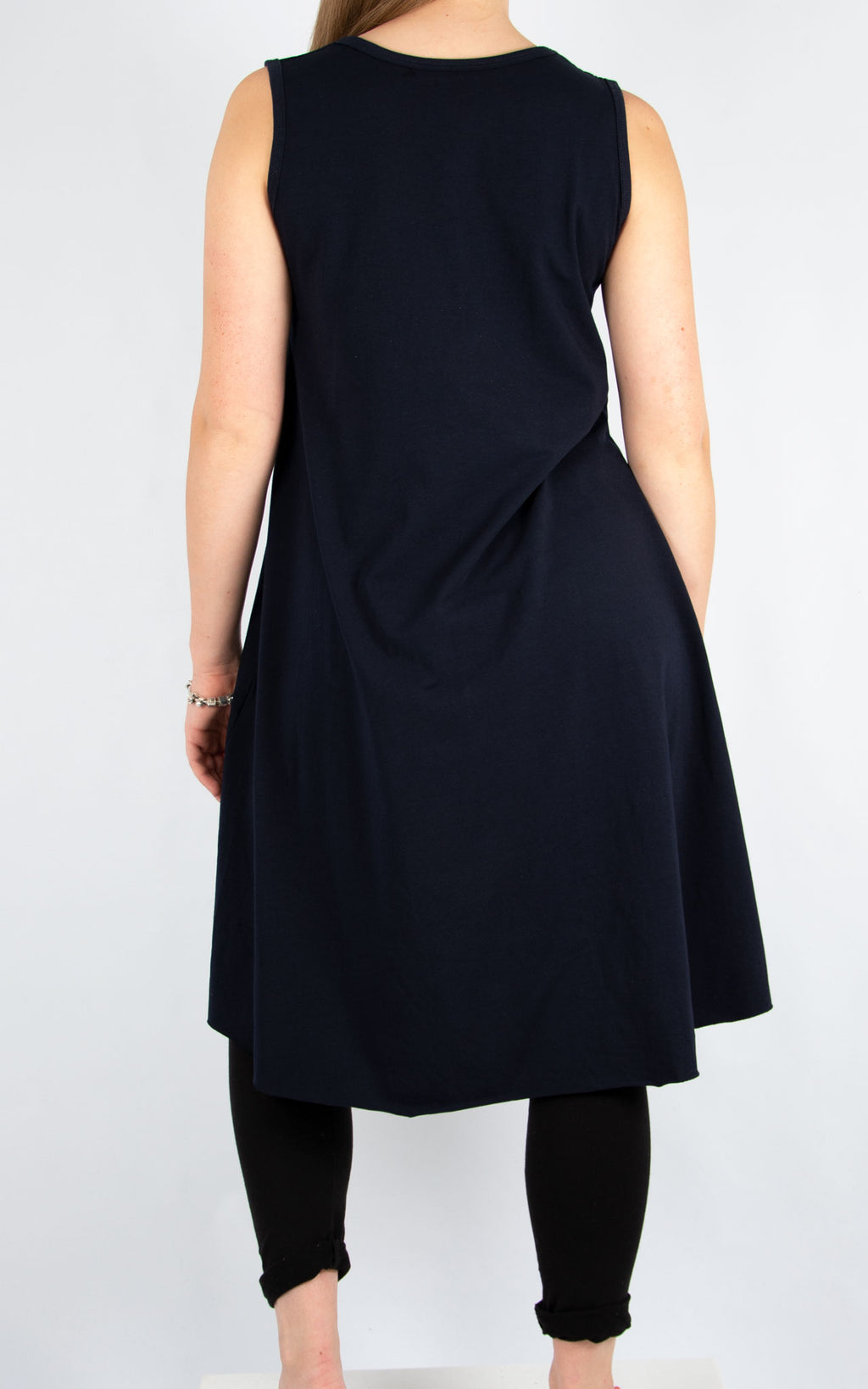 Navy Heart Vest Tunic | Made In Italy