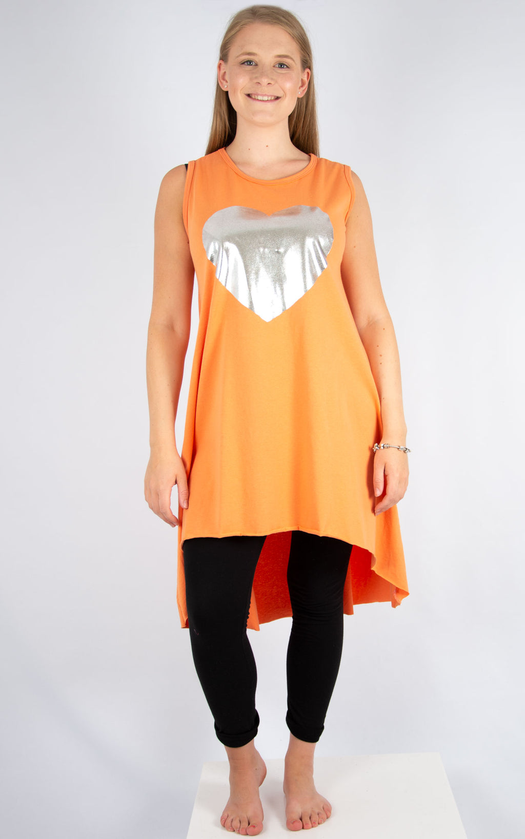 Orange Heart Vest Tunic | Made In Italy