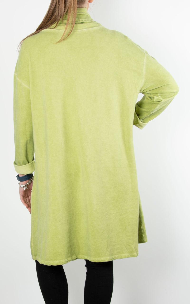 Helen Drawstring Sweat | Lime
