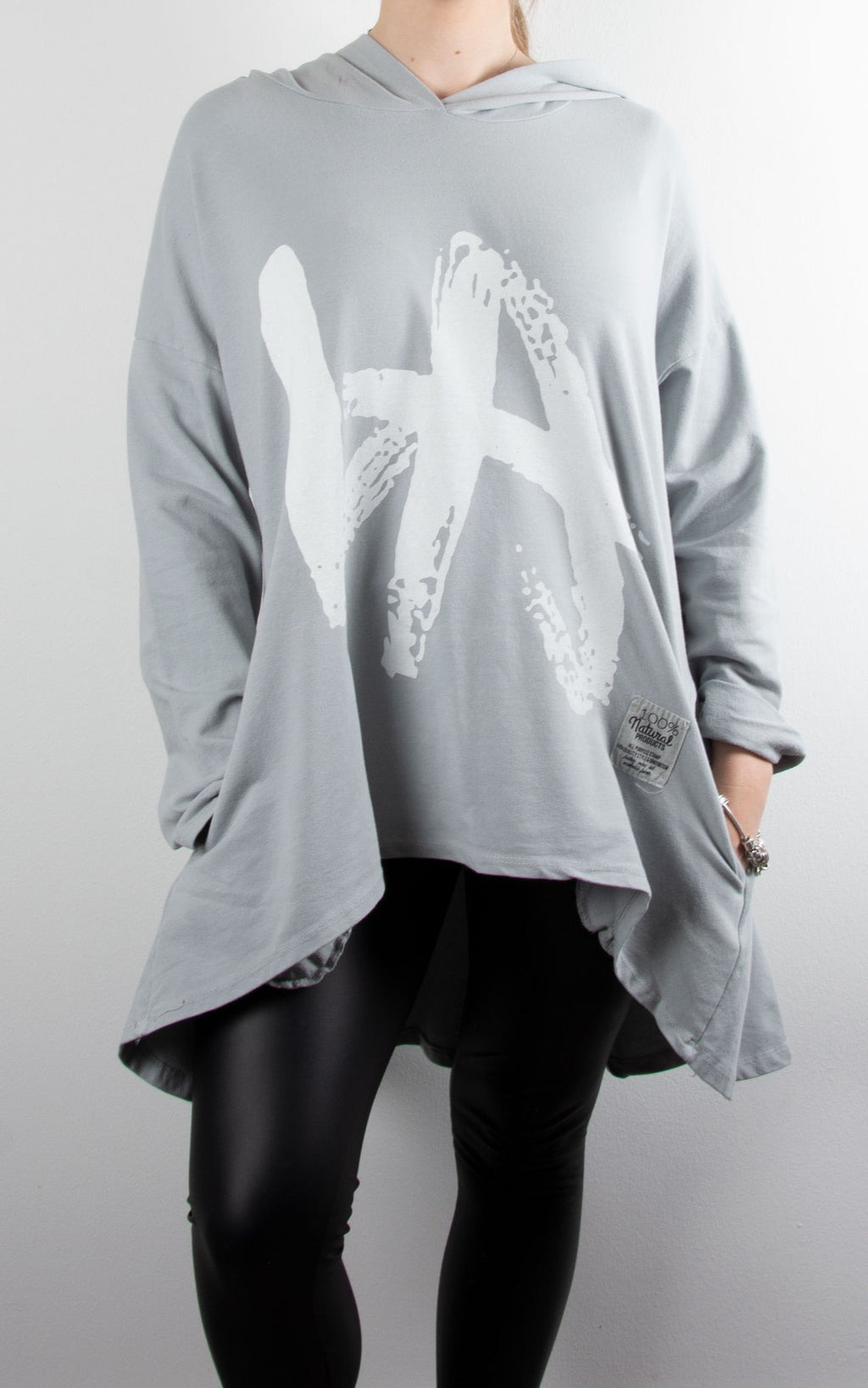 Hi-Lo Swing Hoodie | Light Grey