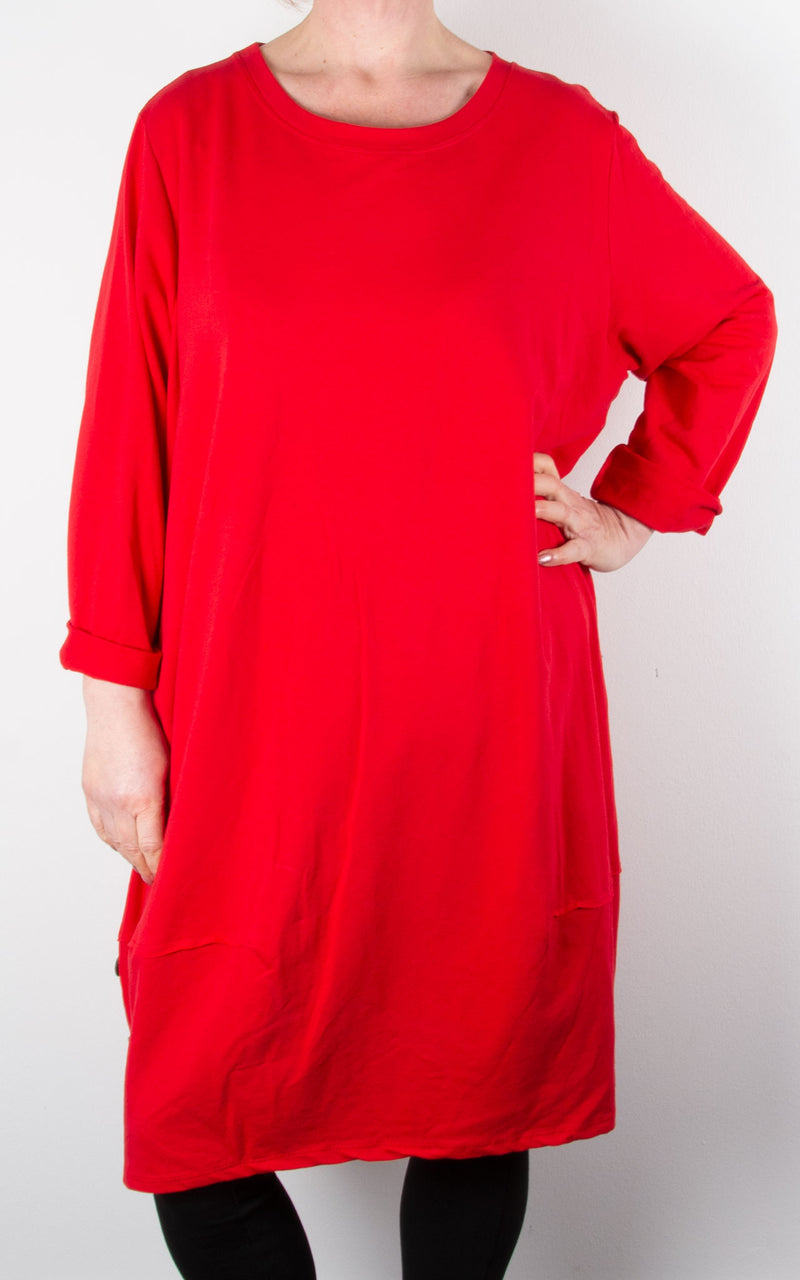 Hilary Button Tunic | Red