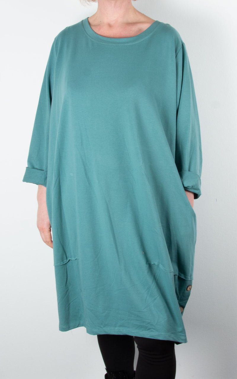 Hilary Button Tunic | Sea Green