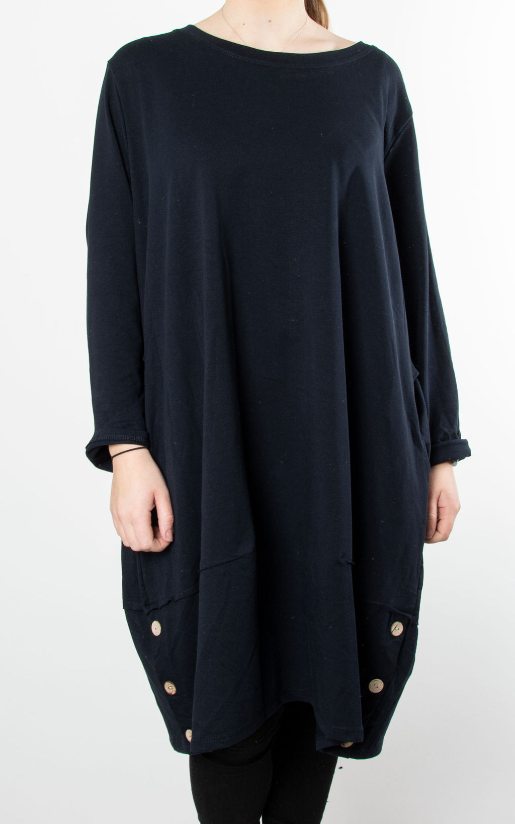 Hilary Button Tunic | Navy