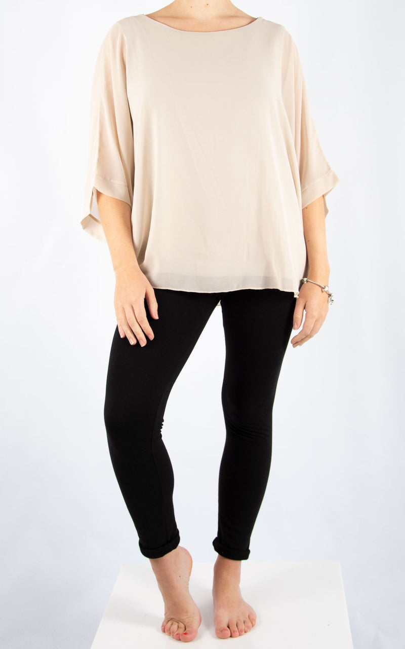 Jade Batwing Beige | Made in Italy